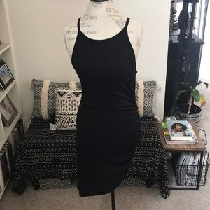 Asymmetrical Ruched Bodycon Tank Dress